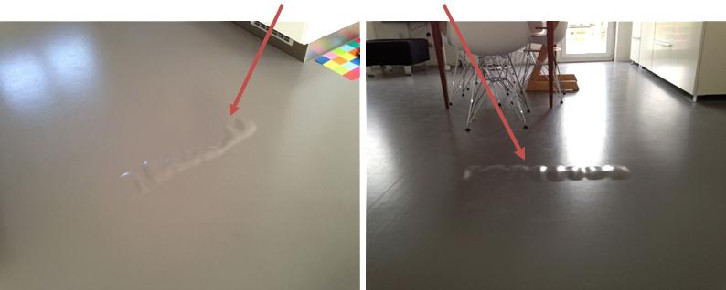 Beulenbildung im Fußboden