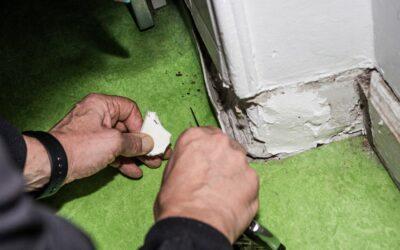 Asbest in alten Bodenbelägen